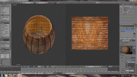 blender 3d unwrap tutorial texturing unwrapping the inside of a barrel blender