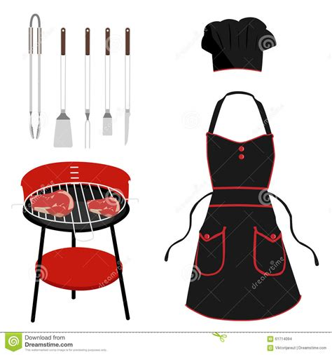 Chef Hat Apron Spatula Fork Royalty Free Stock Photo