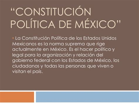 La Politica Politik 1 constituci 243 n politica de m 233 xico