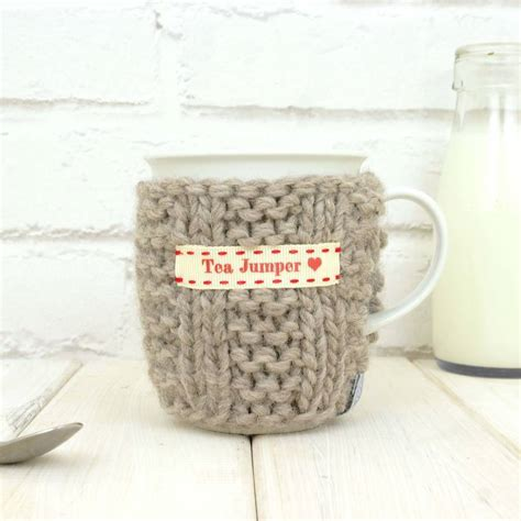 how to knit a mug cosy personalised knitted mug cosy by chi chi moi