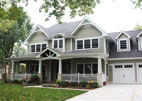 timberline pewter grey shingle with white siding front exterior traditional exterior chicago by