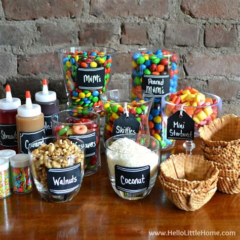 sundae bar topping ideas diy ice cream sundae bar tips toppings more hello