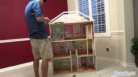 majestic doll house kidkraft majestic mansion dollhouse with furniture unboxing and construction youtube