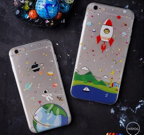 Softcase Ultra Slim Astronot Astronaut Soft Caing Iphone 6 Plus 2016 thin soft clear tpu slim astronaut spaceship for iphone 6 6s 6 plus 6s