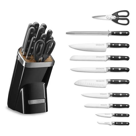 kitchen aid knives kitchenaid 174 11 piece professional knife set onyx black