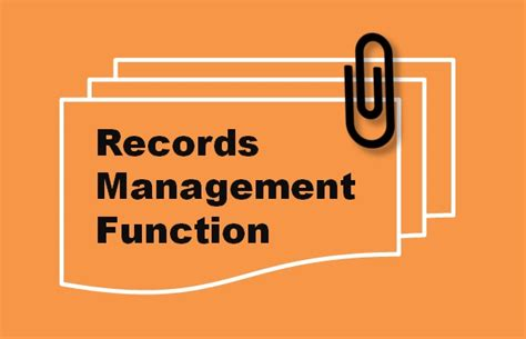 components   successful records management function