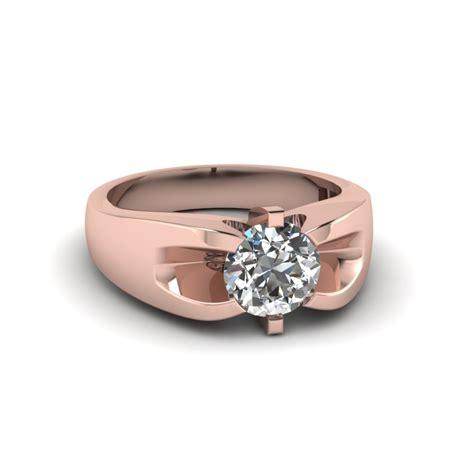 prong set mens wedding rings in 14k