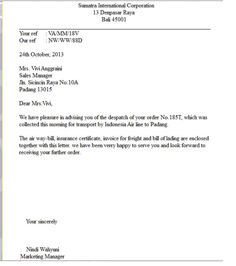Offer Letter Kuis reply to order letter with