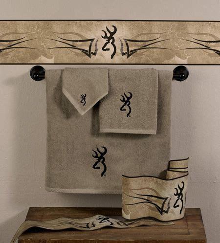 Browning Buckmark Bathroom Accessories Browning Buckmark 3 Pc Embroidered Bath Towel Set Browning Buckmark Browning And Bath Accessories