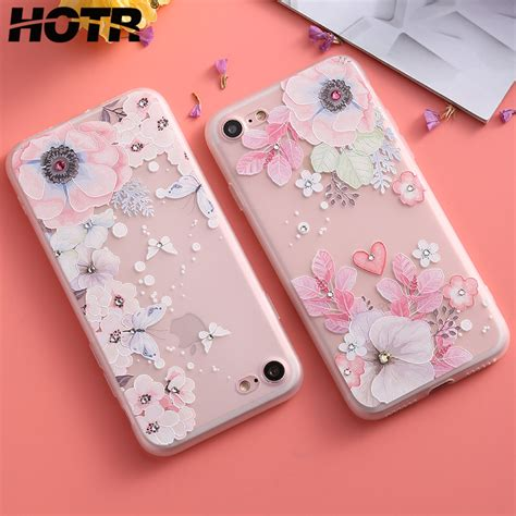 floral iphone 6 6s 7 8 x plus hotr bling flower for iphone 6 6s 7 8 plus x