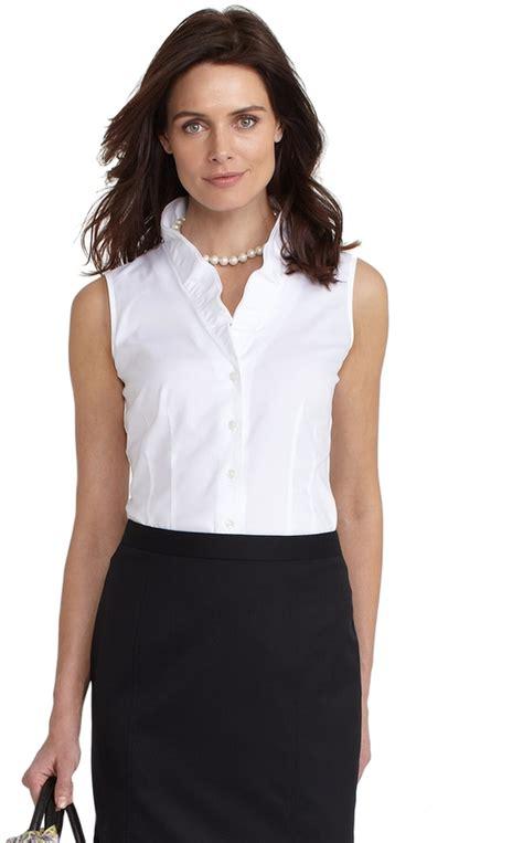Wringkle Tops White 100 cotton wrinkle free s blouse shirt blue denim
