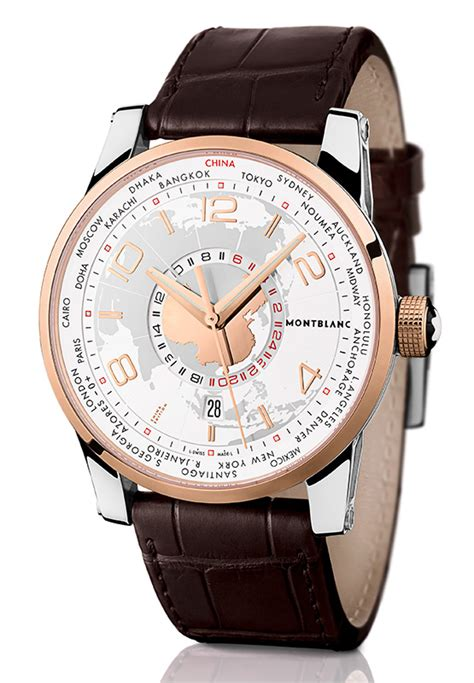 Montblanc Automatic World Time Leather montblanc timewalker world time sinosphere limited edition