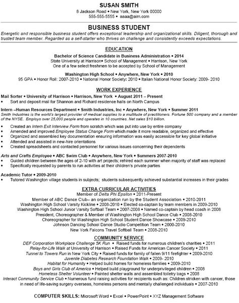Extracurricular Activities On Resume by Exle Extracurricular Activities Dfwhailrepair