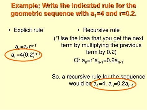 write a pattern rule using a variable ppt 11 5 recursive rules for sequences powerpoint