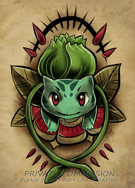 bulbasaur tattoo bulbasaur commission by retkikosmos on deviantart