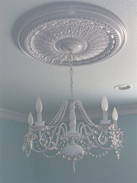 Ceiling Medallions For Chandeliers Ceiling Medallion W Refurbished Chandelier Rooms Bath Dining Living Etc