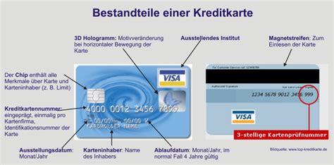 kredit bei welcher bank abwicklung und bestandteile der kreditkarte
