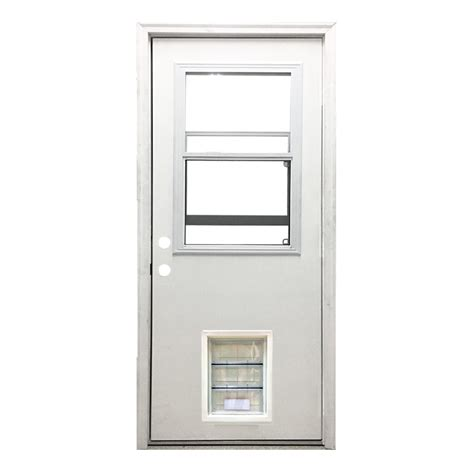 Half Lite Exterior Door Steves Sons 32 In X 80 In Classic Vented Half Lite Rhis White Primed Textured Fiberglass