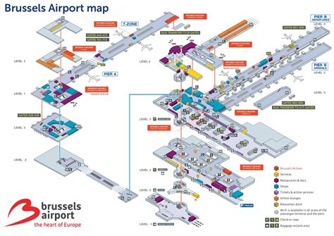 international airport map brussels airport map