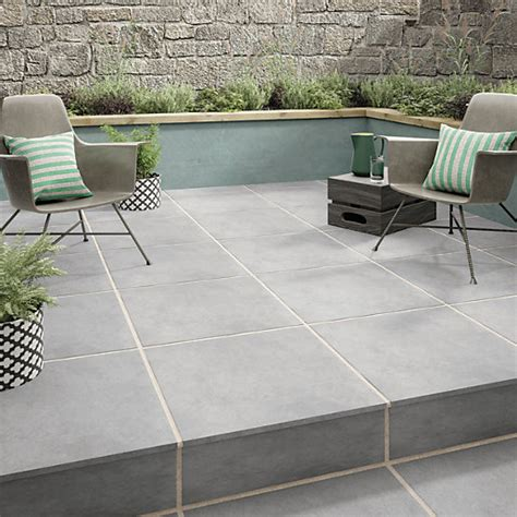 20mm External Porcelain Tiles by Wickes Al Fresco Grey Indoor Outdoor Porcelain Floor