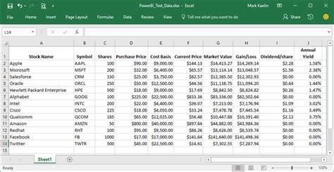 excel tutorial xls file how to configure an excel file for use in power bi