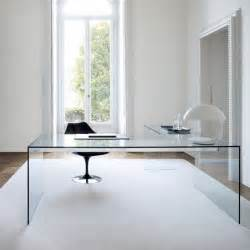 glass desk lui glass desk with wood and metal frame by gallotti