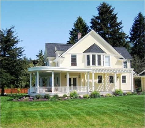 farmhouse with wrap around porch which style home would you choose centsational
