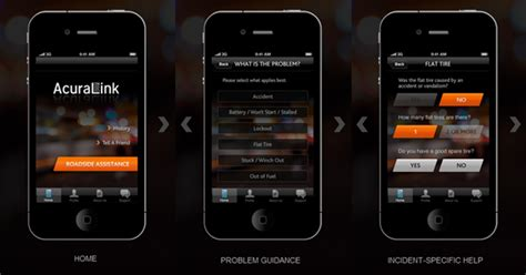 acura assistance acura introduces roadside assistance app for iphone