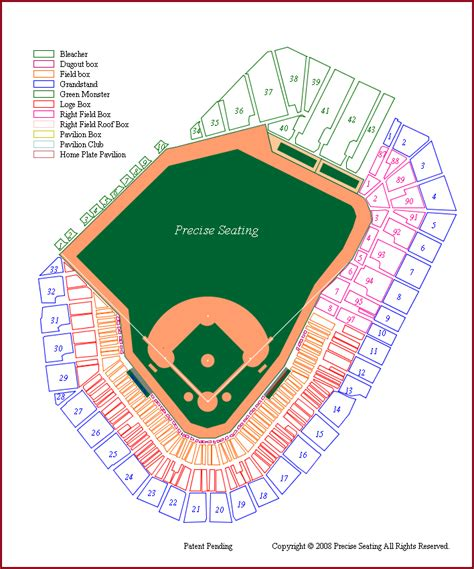 fenway park seating views map of fenway park my