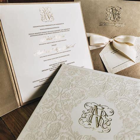 desain undangan instagram intip detail cantik undangan nikah nabila syakieb dan