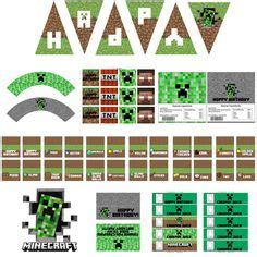 Label Kit Minecraft minecraft thank you cards birthday thank by