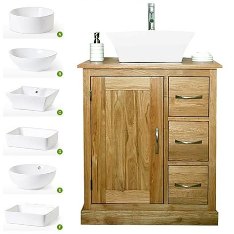 Solid Oak Bathroom Furniture Uk 50 Solid Oak Vanity Unit With Basin 700mm Bathroom Prestige