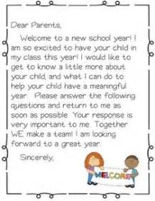 preschool welcome letter to parents from template 1000 ideas about student welcome letters on