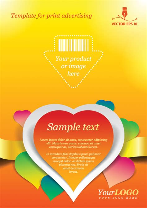 template for print advertising free vector graphic download