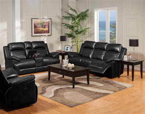 Pbk Furniture by Cortez Black Dual Reclining Sofa From New Classics 20 244