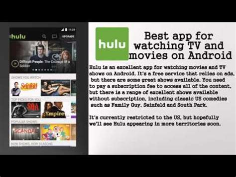 hulu app android best app for tv and on android hulu