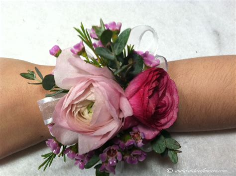 Bando Purple Flower white roses with pink tips corsage www pixshark