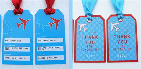 luggage tag invitation template disney airplane printable invitation invitations ideas