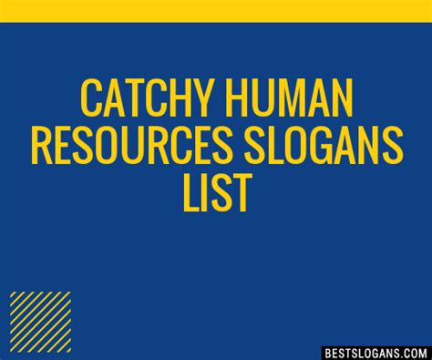 catchy human resources slogans list taglines phrases