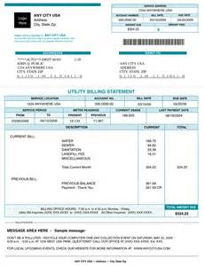 utility bill template reading a utility bill thinglink