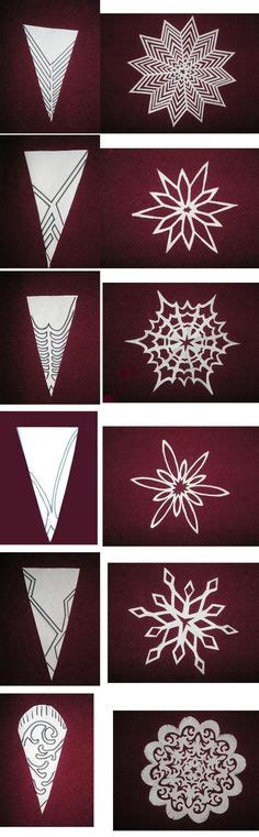How To Make Fancy Paper Snowflakes - basteln and suche on