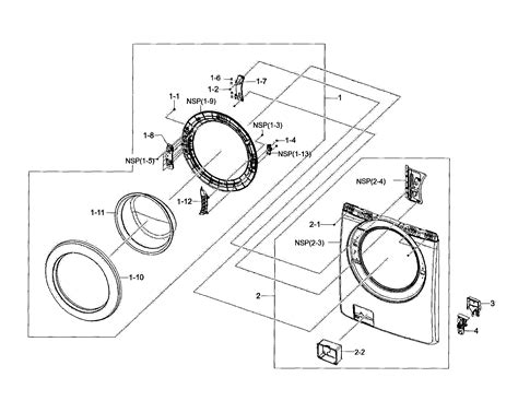 samsung washer parts diagram parts list for model wf210anwxaa searspartsdirect