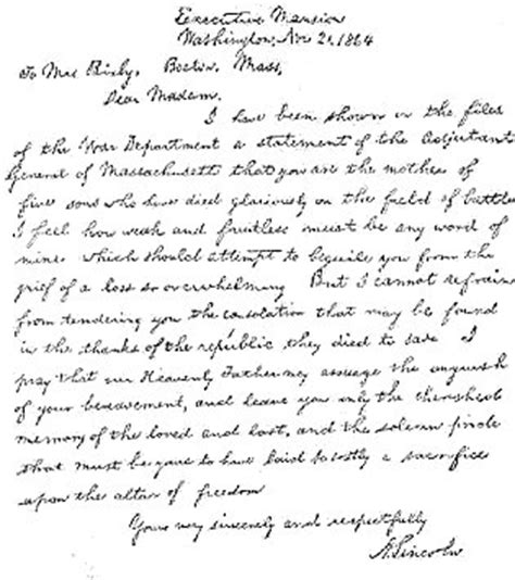 abraham lincoln letter to the abraham lincoln s failures and a striking exle of his