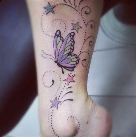 mariposa estrellas y firuletes tatuajes para