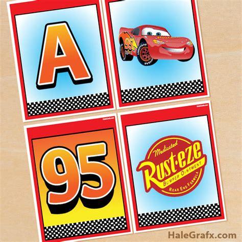 cars birthday banner template free printable disney cars alphabet banner pack