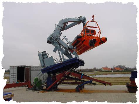 deck boat handling fast rescue boat handling global davit gmbh bassum equip