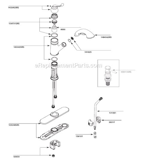 moen ca87007srs parts list and diagram ereplacementparts