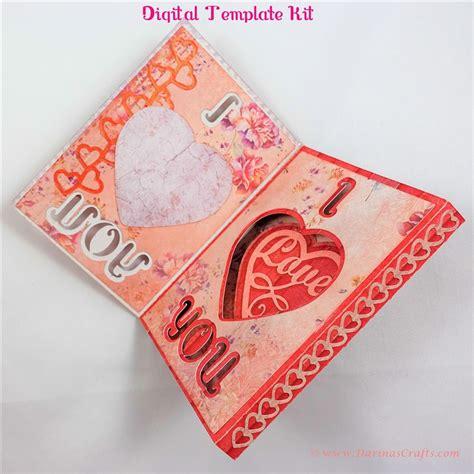 I You Pop Up Card Template by I You Pop Up Diorama Card Digital Template