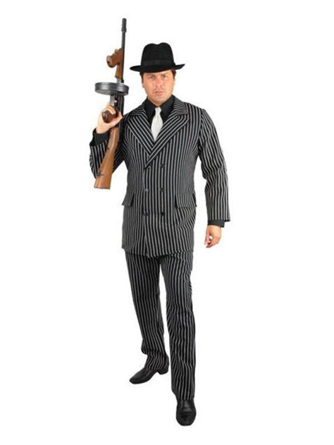 mens 20s costumes costume discounters mens black white gangster costume gangster adult costume