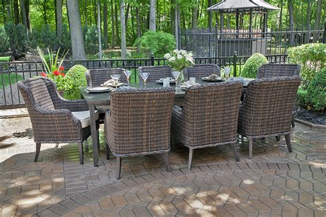 Mila Collection 8 Person All Weather Wicker Luxury Patio 8 Person Patio Dining Set